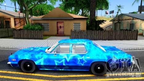 Dodge Monaco 1974 Blue Star для GTA San Andreas вид слева