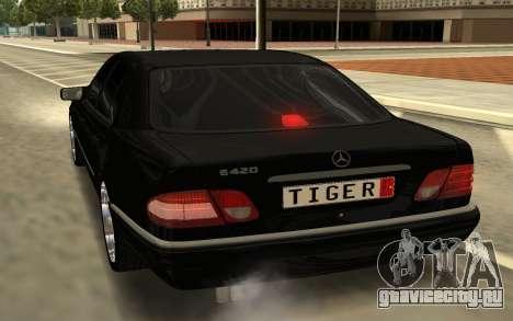 Mersedes Benz E420 для GTA San Andreas вид сзади слева