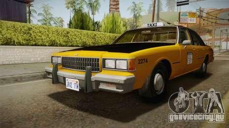 Chevrolet Caprice Taxi 1986 IVF для GTA San Andreas