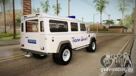Land Rover Defender 110 Полиција для GTA San Andreas вид слева