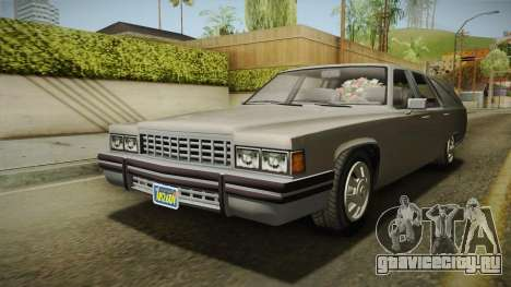 GTA 5 Albany Emperor Hearse для GTA San Andreas вид справа