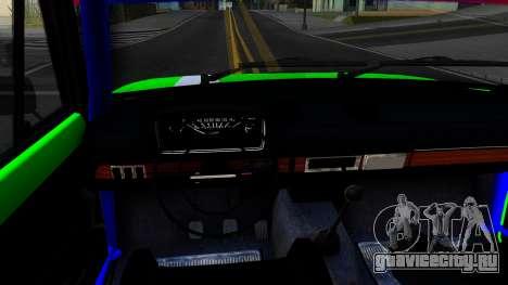 ВАЗ 2101 БК для GTA San Andreas вид изнутри