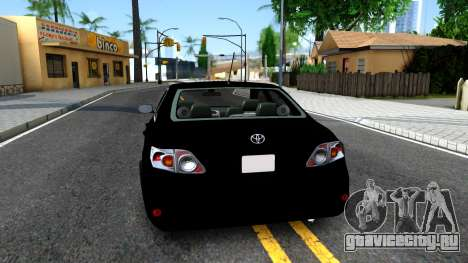 Toyota Corolla для GTA San Andreas вид сзади слева