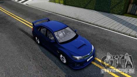 Subaru Impreza WRX STI Sedan 2011 для GTA San Andreas вид справа