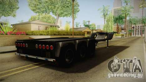 American Multiple Carrier Trailer для GTA San Andreas вид сзади слева