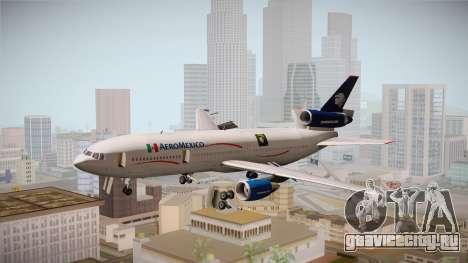 McDonnell-Douglas DC-10 Aeromexico для GTA San Andreas вид сзади слева