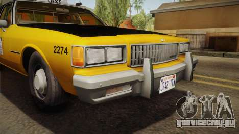 Chevrolet Caprice Taxi 1986 IVF для GTA San Andreas вид изнутри
