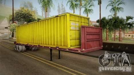 Yellow Trailer Container HD для GTA San Andreas
