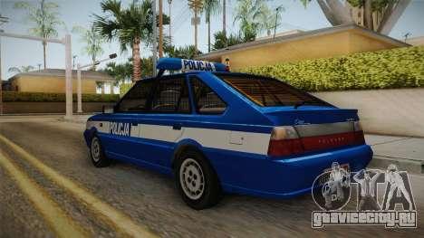 Daewoo-FSO Polonez Caro Plus Policja 1.6 GLi для GTA San Andreas вид сзади слева