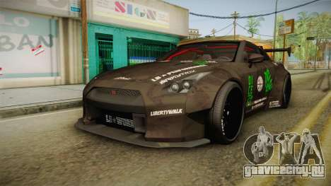 Nissan GT-R LB Walk Team Dice для GTA San Andreas