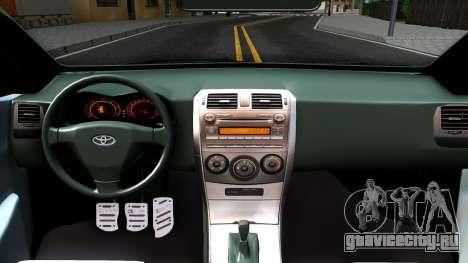 Toyota Corolla для GTA San Andreas вид изнутри