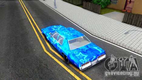Dodge Monaco 1974 Blue Star для GTA San Andreas вид сзади