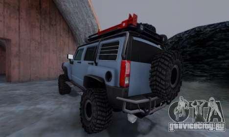 HUMMER H3 OFF ROAD для GTA San Andreas вид слева