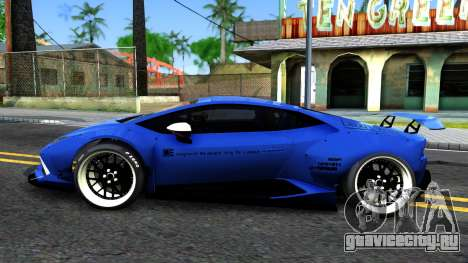 Lamborghini Huracan LB Performance для GTA San Andreas вид слева