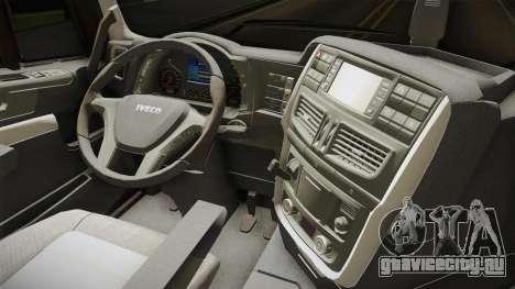 Iveco Stralis Hi-Way 560 E6 6x2 Cooliner v3.0 для GTA San Andreas вид изнутри