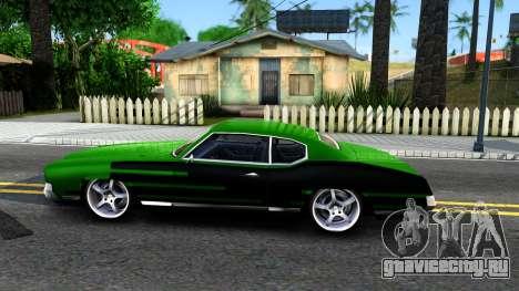 Sabre Drift Green Strips для GTA San Andreas вид слева