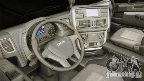 Iveco Stralis Hi-Way 560 E6 6x4 v3.2 для GTA San Andreas вид изнутри