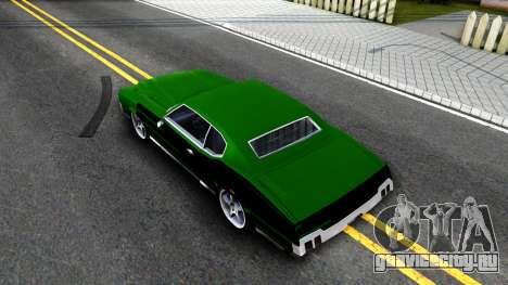 Sabre Drift Green Strips для GTA San Andreas вид сзади