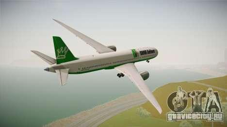 Boeing 787 Grove Airlines для GTA San Andreas вид справа