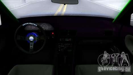 Nissan Silvia Sil80 для GTA San Andreas вид изнутри