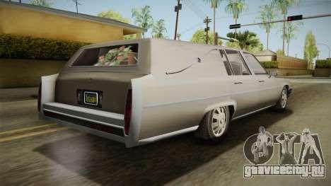 GTA 5 Albany Emperor Hearse для GTA San Andreas вид слева