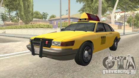 GTA 4 Taxi Car SA Style для GTA San Andreas вид справа
