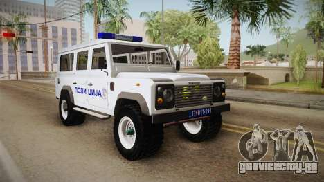 Land Rover Defender 110 Полиција для GTA San Andreas