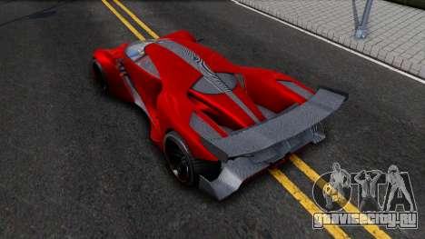 GTA V Grotti Prototipo для GTA San Andreas вид сзади