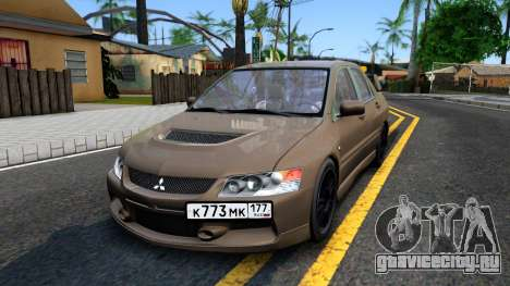 Mitsubishi Lancer Evolution IX 2006 MR для GTA San Andreas