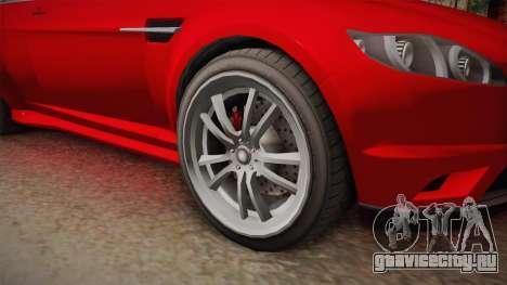 GTA 5 Ocelot Jackal 2-doors для GTA San Andreas вид сзади