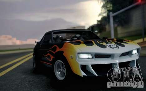 AMC Javelin Speedevil для GTA San Andreas вид сзади слева