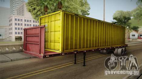 Yellow Trailer Container HD для GTA San Andreas вид справа
