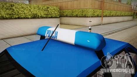 Daewoo-FSO Polonez Caro Plus Policja 1.6 GLi для GTA San Andreas вид изнутри