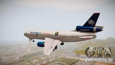 McDonnell-Douglas DC-10 Aeromexico для GTA San Andreas вид справа