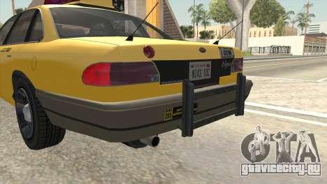 GTA 4 Taxi Car SA Style для GTA San Andreas вид сверху