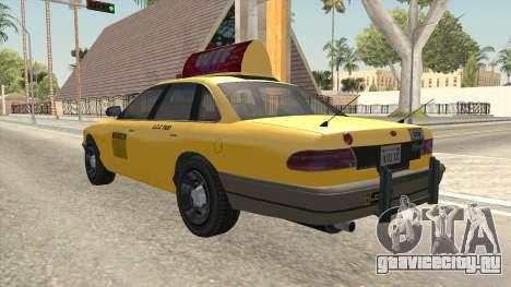 GTA 4 Taxi Car SA Style для GTA San Andreas вид сзади слева