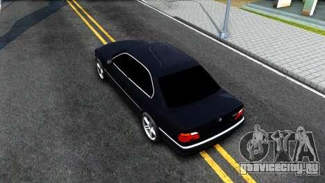 BMW 730i E38 для GTA San Andreas вид сзади
