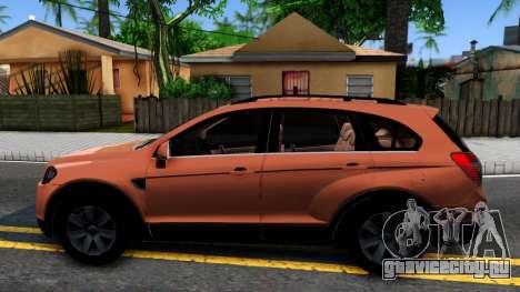 Chevrolet Captiva для GTA San Andreas вид слева