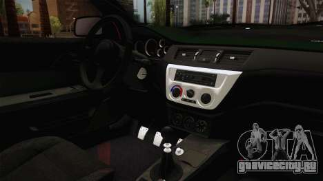 Mitsubishi Lancer Evolution IX MR Tokyo Drift для GTA San Andreas вид изнутри