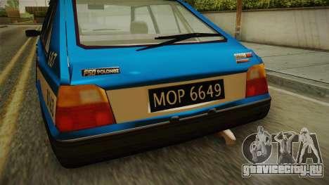 FSO Polonez Caro Policja для GTA San Andreas вид сзади