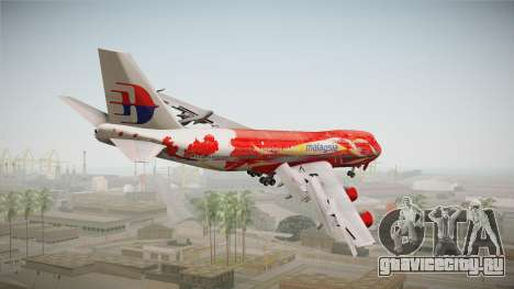 Boeing 747 Malaysia Airlines Hibiscus Livery для GTA San Andreas вид слева