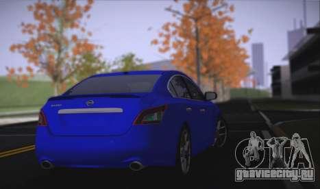 Nissan Maxima для GTA San Andreas вид сзади слева