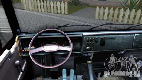 КамАЗ 65115 для GTA San Andreas вид изнутри