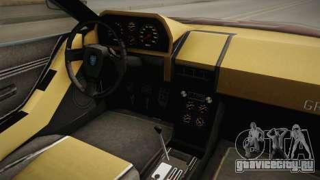 GTA 5 Grotti Turismo Classic IVF для GTA San Andreas вид изнутри