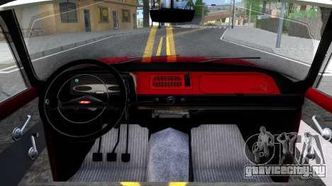 АЗЛК-408 для GTA San Andreas вид изнутри