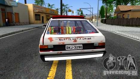 Volkswagen Gol Coca-Cola для GTA San Andreas вид сзади слева