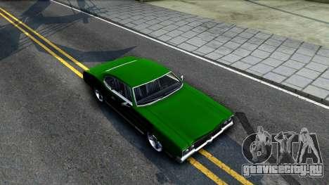 Sabre Drift Green Strips для GTA San Andreas вид справа