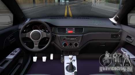 Mitsubishi Lancer Evolution IX Police для GTA San Andreas вид изнутри