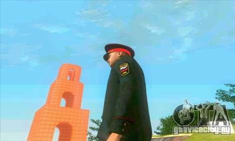 Капитан милиции России в кителе для GTA San Andreas четвёртый скриншот