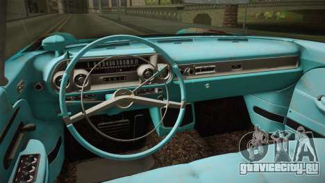 Cadillac Eldorado Brougham 1957 Rusty HQLM для GTA San Andreas вид изнутри